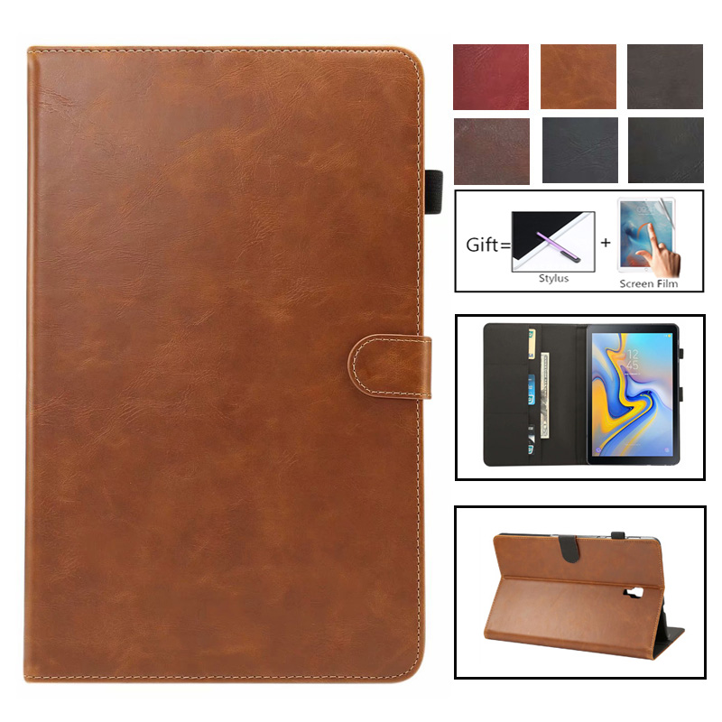 Luxury Case For Samsung Galaxy Tab A A2 2018 10.5 Inch T590 T595 T597 SM-T595 Cover Funda Tablet PU Leather Stand Shell Coque