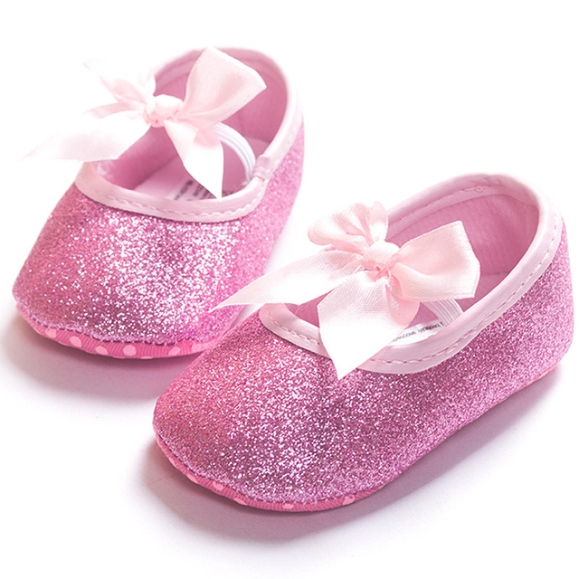 44fe731b8f0a ROMIRUS Bling Baby Girls Princess Mini Melissa Shoes Soft Bottom Bowknot  For First Walkers Children Kids