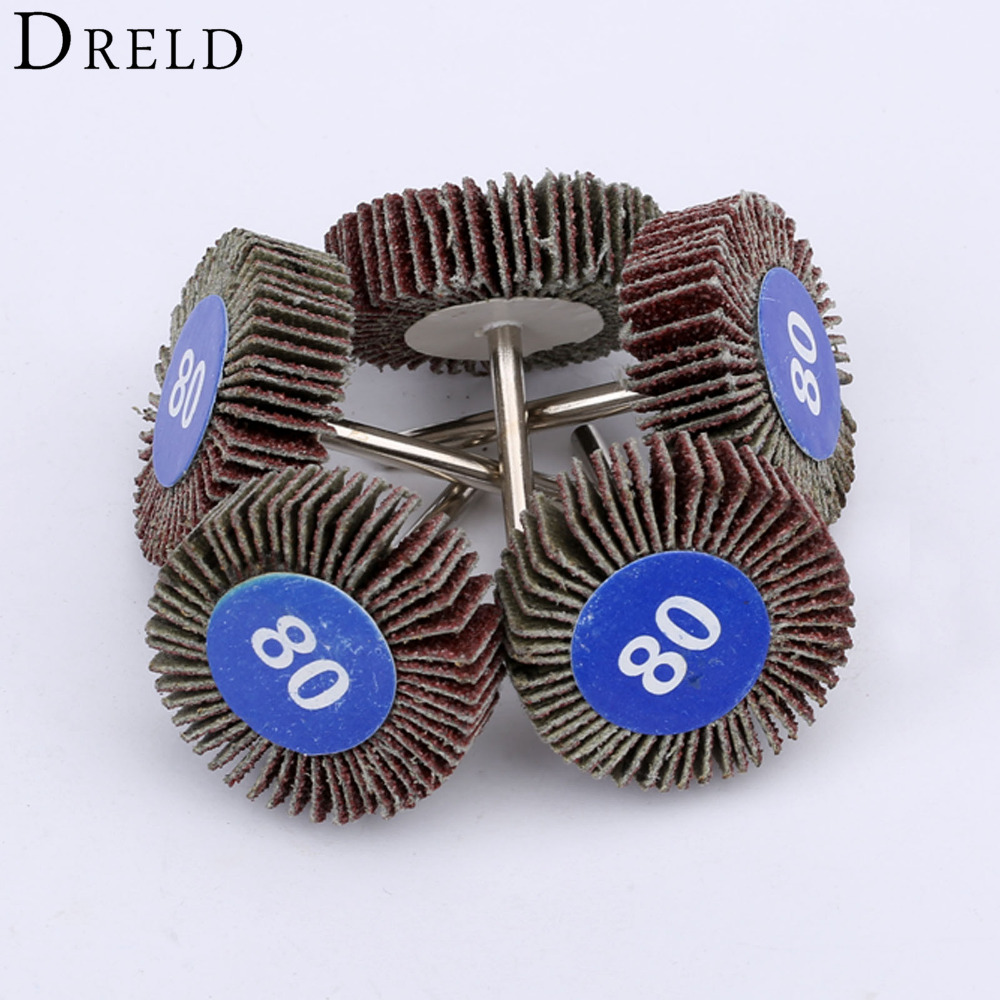 5Pcs Dremel Accessories Sandpaper Sanding Flap Polishing Wheels Sanding Disc Set Shutter Polishing Wheel For Rotary Power Tools 5pcs pack 32mm grinding sanding sandpaper buffing flap wheel disc 80 grit for rotary