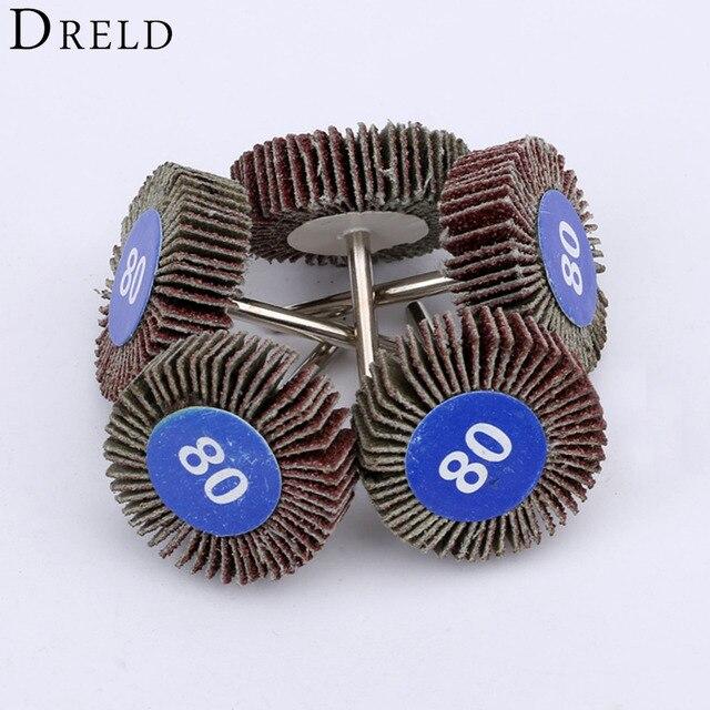 Dremel Accesorios de papel de lija, ruedas de pulido, juego de discos de lijado, rueda de pulido de obturador para herramientas de potencia rotativa, 5 uds.
