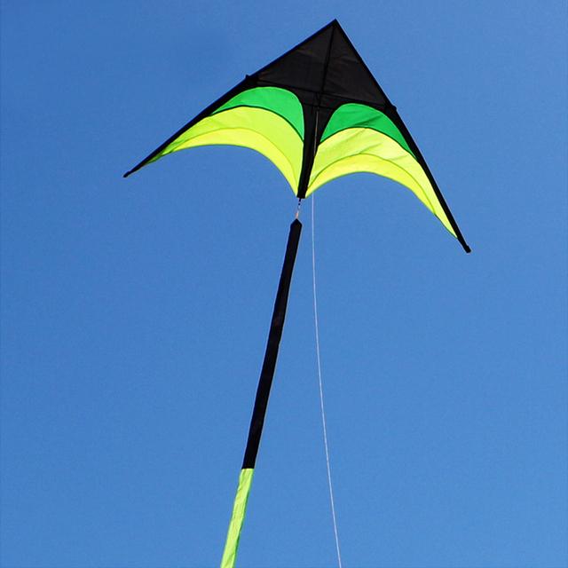 210 CM Superior Gran Paraguas Paño Verde Pradera Volar Cometas Kite Kite Pintura de Color Al Aire Libre Diversión Deportes