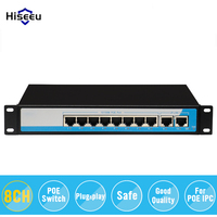 8 Port 10 100M PoE Net Switch Power Over Ethernet PoE Optical Transmission For IP Camera