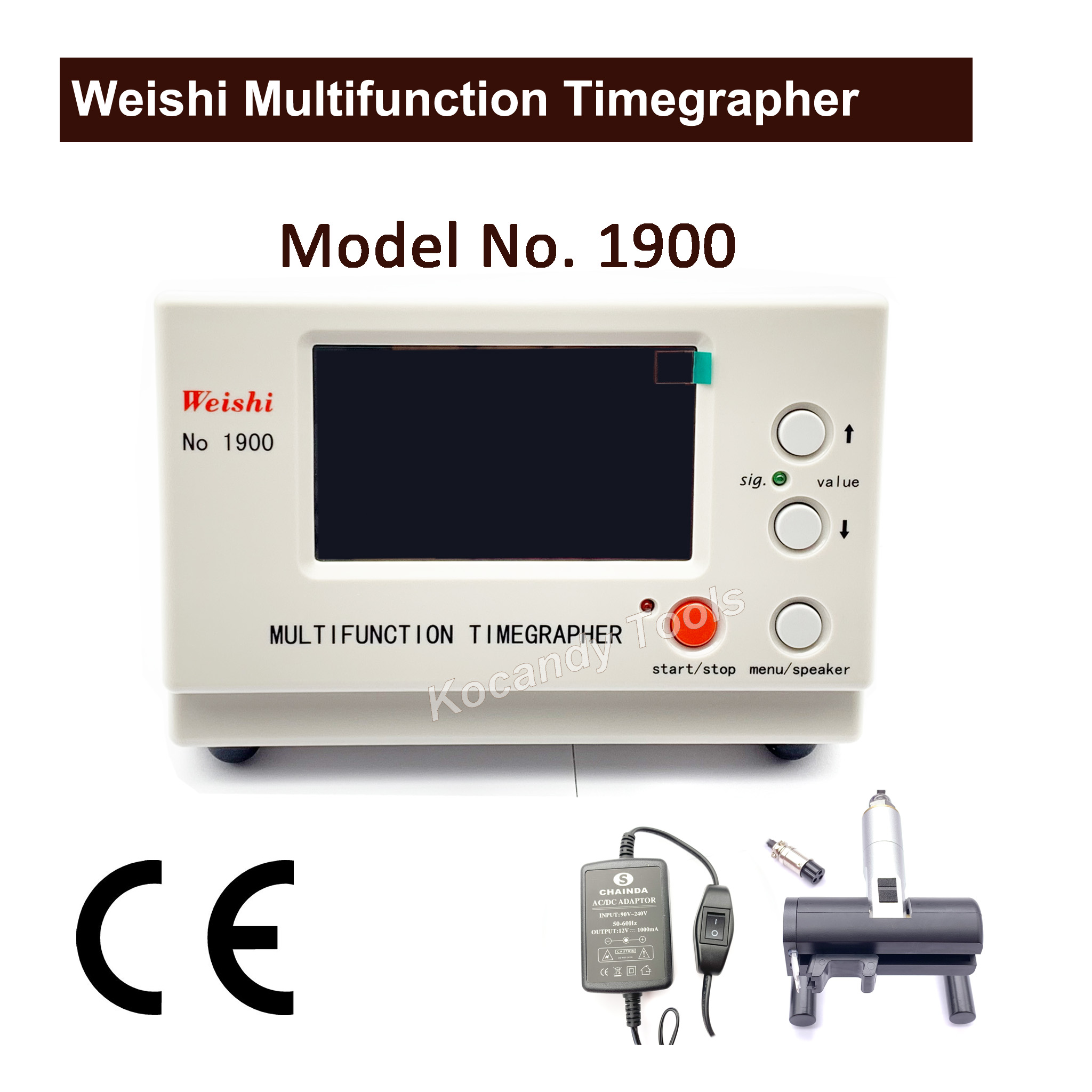 Weishi 1900 Multifunction Timegrapher Professional Watch Timing Machine Multifunction Timegrapher for Watchmakers Repair Tools