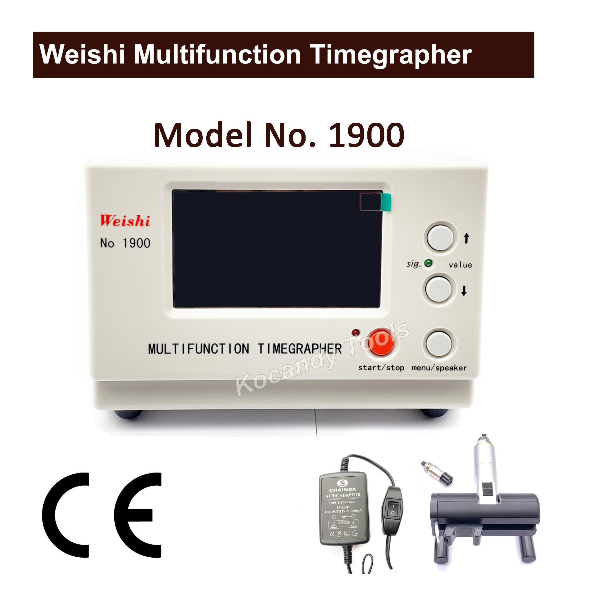 Weishi 1900 متعددة الوظائف Timegrapher ، المهنية ووتش توقيت آلة متعددة الوظائف Timegrapher ل الساعاتيون أدوات إصلاح-في أدوات ومعدات إصلاح من ساعات اليد على  مجموعة 1