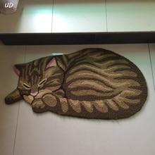 New 3D Cat Shape Washable Carpets for Living Rom Bedroom Kitchen Anti-Slip Floor Mats & Rom doors online shopping-the world largest rom doors retail ... Pezcame.Com