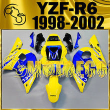Motoegg Injection Fairings For YAMAHA YZF-R6 1998-2002 46 Rossi Yellow Blue#M40   Motorcycle plastic