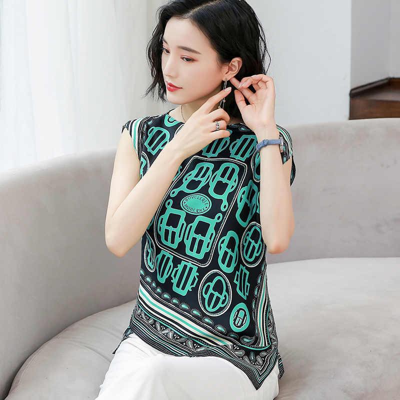 De moda Coreana de seda blusas de Mujeres de Negro sin mangas camisas de Mujer Plus tamaño XXXL Mujer Tops y blusas Femininas Elegante