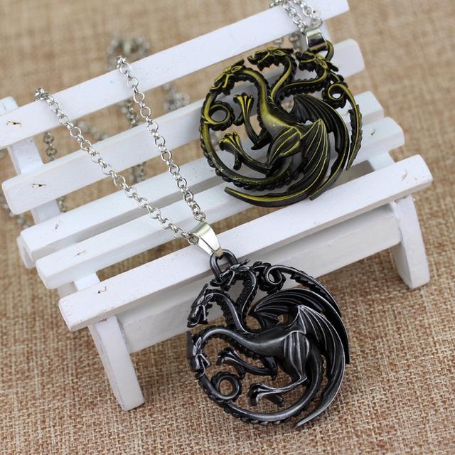 Game of Thrones Targaryen Dragon Badge Necklaces & Pendants 2 Colors