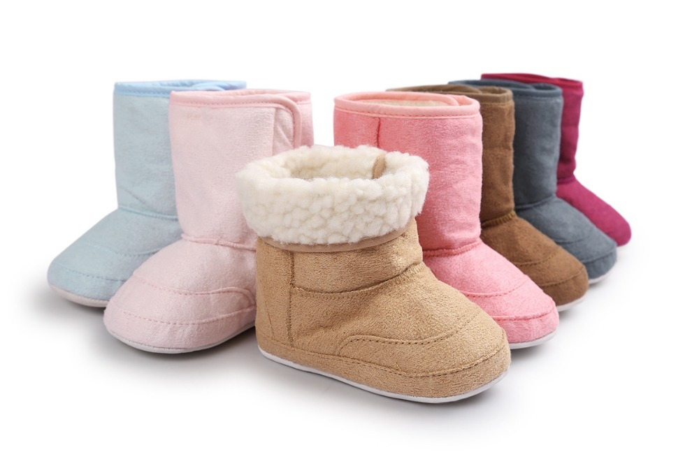 New Brand ROMIRUS Fashion Winter Super Keep Warm Newborn Baby First Walkers Boots Babe Children Soft Rubber Soled Anti-Slip shoe