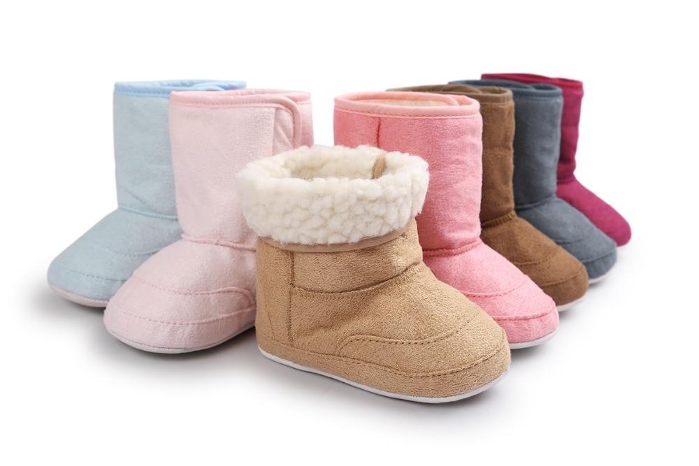New Brand ROMIRUS Fashion Winter Super Keep Warm Newborn Baby First Walkers Boots Babe Children Soft Rubber Soled Anti-Slip shoe