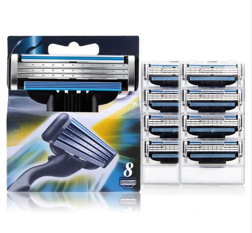 8pcs/lot Men's Shaving Razor Blades For Men Shaving 3layers Blade Shaving Cassette For Gillettee Mache 3