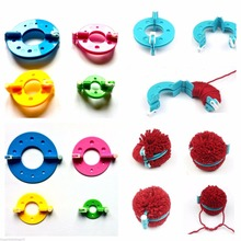 Free Shipping 1 Set DIY Fluff Ball Maker Needle Knitting Wool Tool Kit Sewing Tools & Accessory