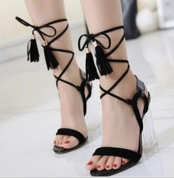 buy popular 0a295 44b71 Hot-Selling-American-amd-European-Sexy-Black -Ankle-Strap-Lace-up-Sandals-Hollow-out-Thin-and.jpg