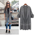 Brand Clothing 2016 Autumn European Women Trench Coat Female Windbreaker Pocket Ladies Casual Fashion Cardigan Cloak JA8020