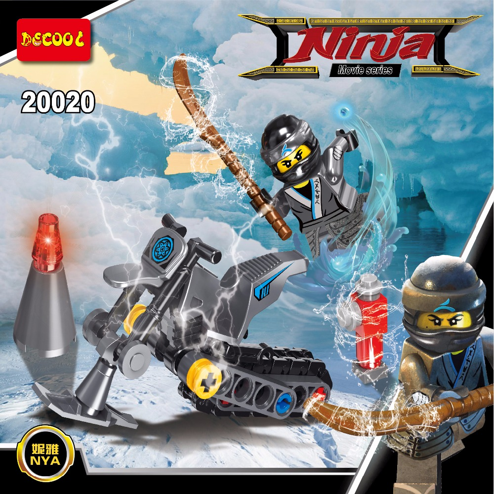 DECOOL 20020 56pcs MiniMan Ninja Zane Action Figures Building Toy for gift for lego Movie for minifigure Ninjago LPS LELE SY legos for boys ninjago