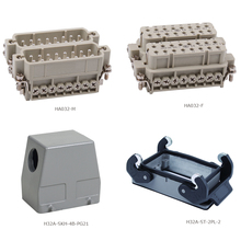 HA-032 32 pins multi pins screw terminal heavy duty connector male female insert hood housing(China)