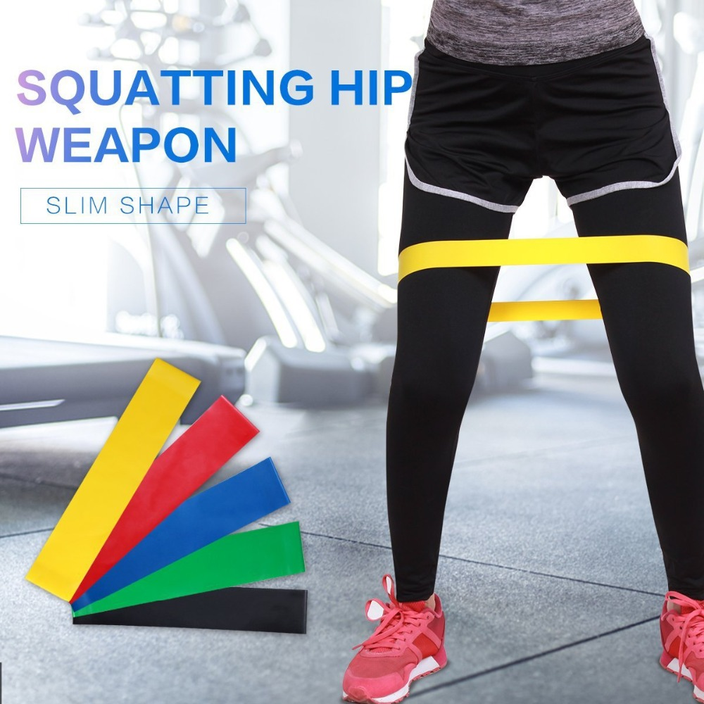 2018 Hot Resistance Bands 5 Levels Exercises Elastic Fitness Training Yoga Loop Band Workout Pull Rope With Strength Test Video image