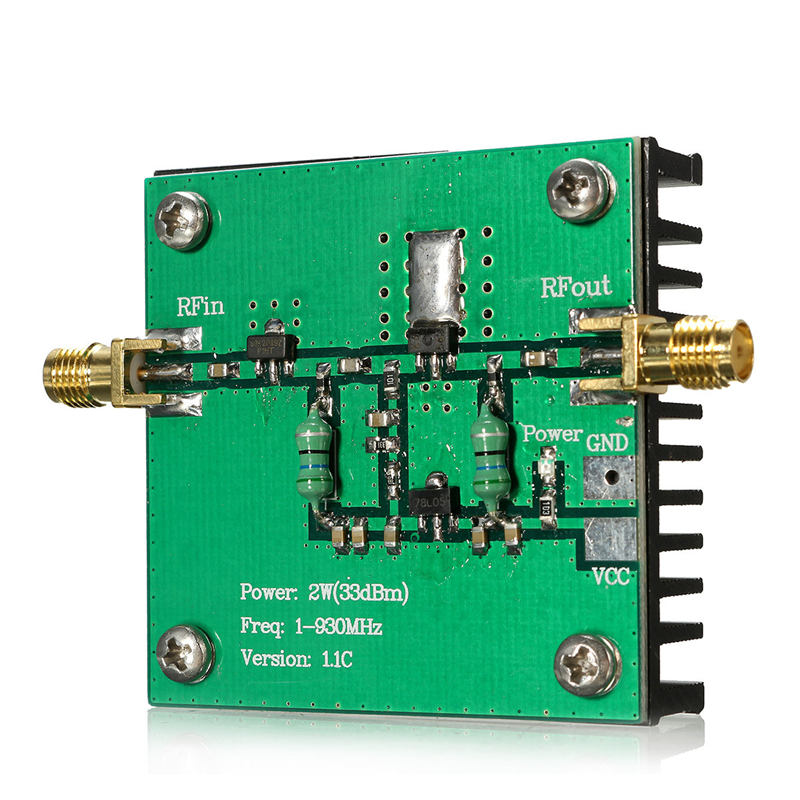 1 930mhz 2w rf broadband power amplifier module for radio transmission fm hf vhf 48x48x13mm. Black Bedroom Furniture Sets. Home Design Ideas