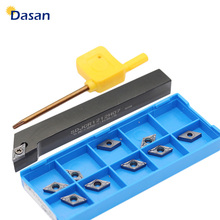 1PC SDJCR1010H07 SDJCR1212H07 SDJCR1616H07 and DCMT070204 Carbide Inserts CNC Lathe Turning Tool Holder Set w wlnl 2020k08 95 degree external turning tool holder portautensili tornio and lathe tool holder for carbide inserts