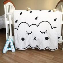 Aden Muslin tree Newborn Baby Blanket 100%Cotton White Bedding Cartoon Kids summer quilt Sofa Floor Playing Carpet Mats 130X90cm