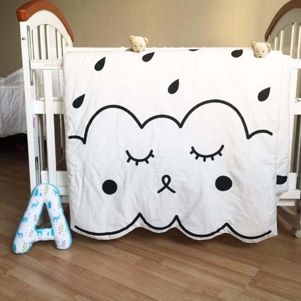 Newborn Baby Blanket 100%Cotton Bedding animal print swadding Kids Cartoon summer quilt infant rug Floor Playing Carpet Mats