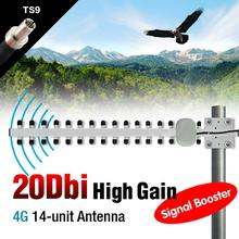 Sale 2016 High Pefermance Yagi WiFi Antenna 20dBi TS9 Long Range High Gain Booster Directional 4G Router EL6156