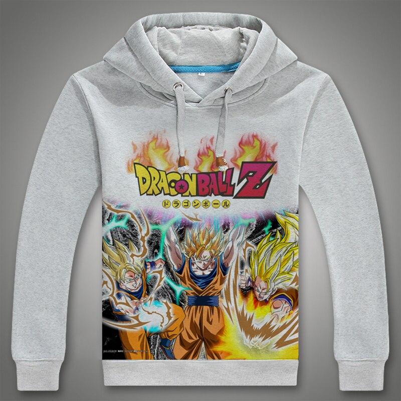 2017 newest anime hoodie casual Hoodie Dragon Ball Cosplay hoodie sweatshirt digital printed Dragon Ball Hoodie men