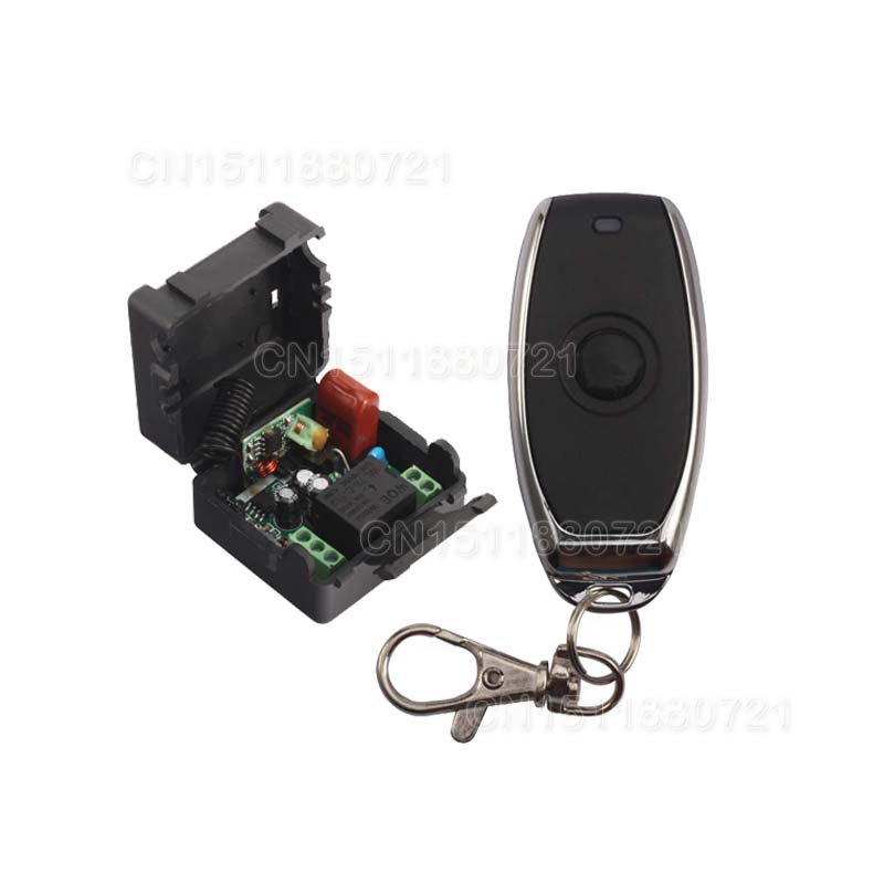 220V 1CH Mini Receiver & Transmitter Wireless Switch Remote Light Switch Momenrary Toggle Latched Adjustable With Battery