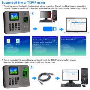 Image 5 - Realand 2.4 אינץ TCP/IP/USB טביעות אצבע ביומטרי זמן נוכחות מכונה נוכחות כרטיס RFID מערכת זמן שעון מכשיר תוכנה