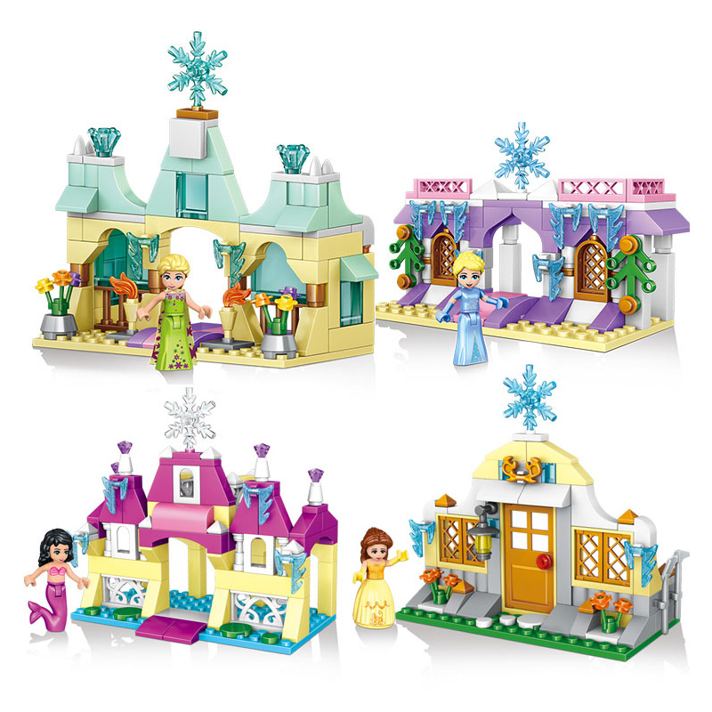 Educational-Building-Blocks-Toys-For-Children-Gifts-Castle-Girls-Friends-Princess-Prince-Mermaid-Beauty-Beast-Snow-Elsa-Anna-2