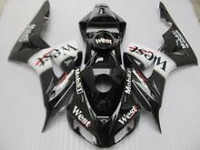 Литья под давлением обтекателя комплект для Honda CBR1000RR 2006 2007 West стикер черные мотоциклетные Обтекатели CBR 1000RR 06 07 ot35