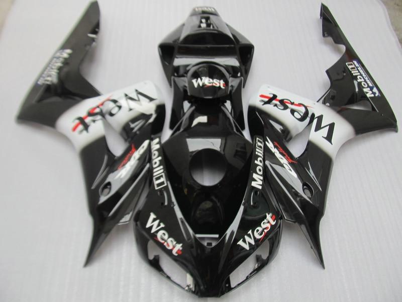 Stampaggio ad iniezione carena kit per Honda CBR1000RR 2006 2007 west sticker nero moto carene CBR 1000RR 06 07 OT35