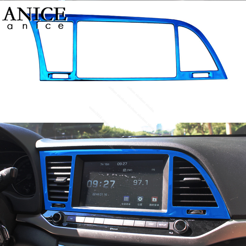 fit for HYUNDAI Elantra stainless Air Conditioning Dashboard Vent Cover trim 2017 2018