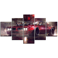 5 Piece HD Canvas Art Painting – American Muscle PONTIAC GTO  C5V3