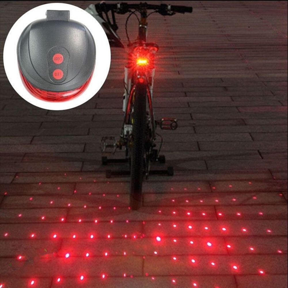 Image result for Bicycle Rear Light LED Tail Light Parallel Line 7-Mode w/ Laser Beam