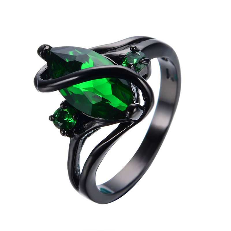 Green Black Wedding Rings For Men
