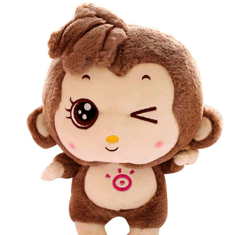 Free shipping Stuffed toys 30cm 11.8 inch lovely monkey plush toy doll kawaii stuffed monkey big eye valentine day birthday gift