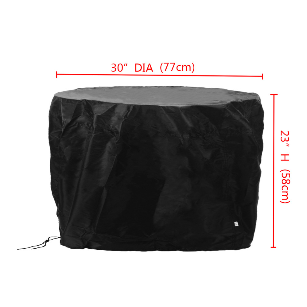 Mayitr Black Waterproof BBQ Cover Heavy Round Duty Fire Pit Barbecue Cooking Grill Outdoor Garden Dust Covers 77x58cmMayitr Black Waterproof BBQ Cover Heavy Round Duty Fire Pit Barbecue Cooking Grill Outdoor Garden Dust Covers 77x58cm