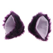 Orecchiette Party's Cat Fox Long Fur Ears Anime Neko Costume Hair Clip Cosplay 2017(China)