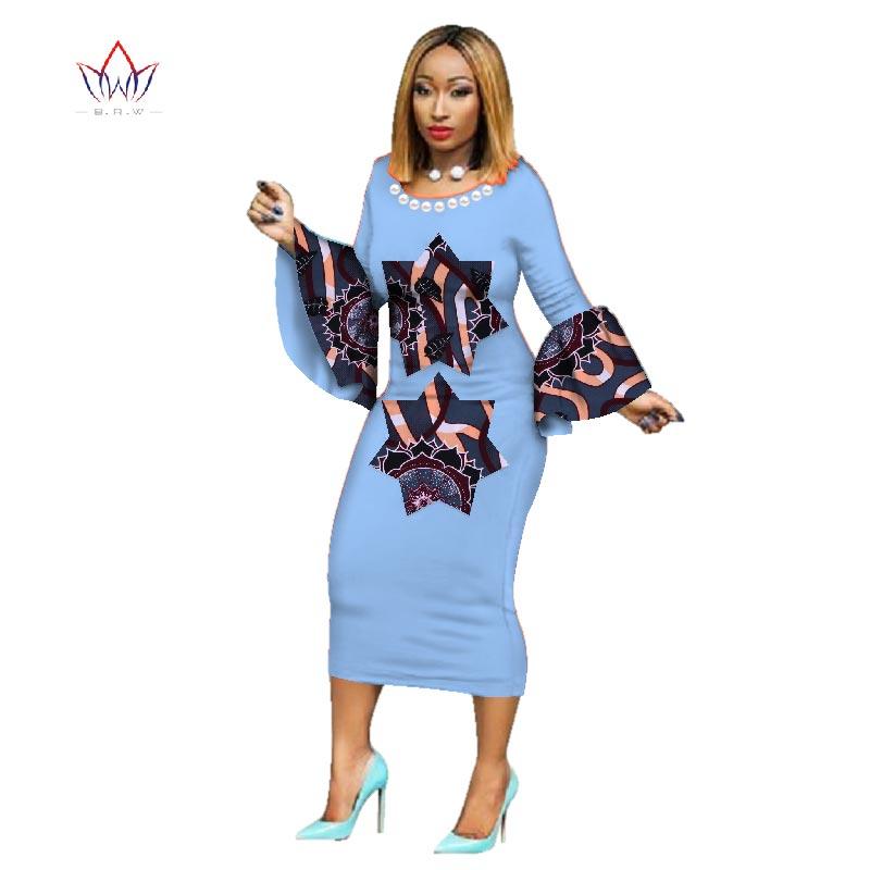 Dashiki robe de soirée robes chaudes Dashiki pour les femmes coton imprimé traditionnel africain vêtements xxl vêtements femmes WY2555