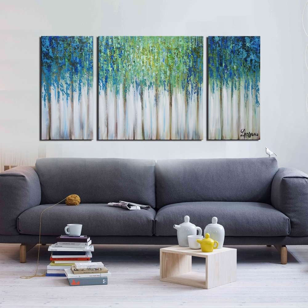 5 Panel Wall Pictgure Abstract Oil Painting On Canvas
