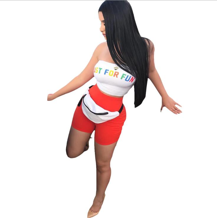 Womens summer Casual Shinny Tube Top Shorts Bodycon Two Piece Set Outfits Short Sport Jumpsuit Sets
