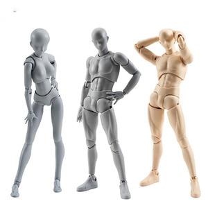 Image 1 - 14cm 남성 여성 움직일 수있는 몸 chan 합동 액션 피규어 장난감 아티스트 아트 페인팅 애니메이션 모델 SHF 마네킹 bjd 아트 스케치 그리기
