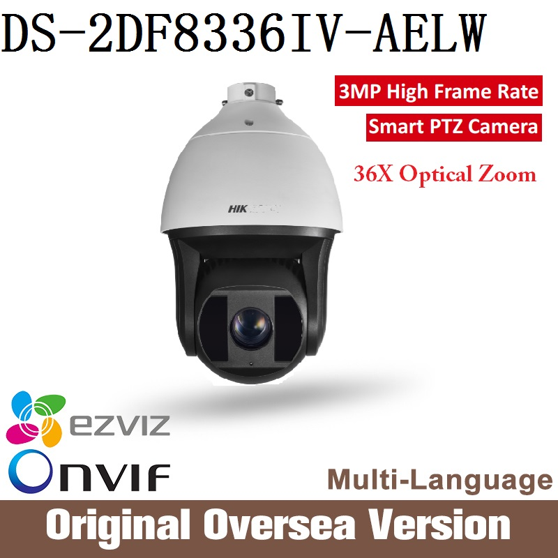 HIK Ip Camera DS-2DF8336IV-AELW PTZ original Cctv security English Version dahua 1080p Optical Zoom Smart tracking RJ45 uk 2017 new ds 2df8836iv aelw english version 4k smart ir ptz camera poe camera with wiper