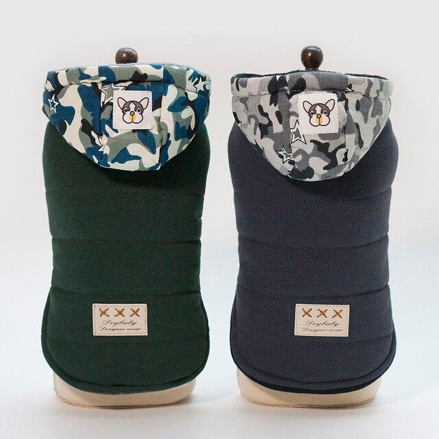 2018 camouflage cappelli due piedi vestiti del cane per l'autunno e inverno capp