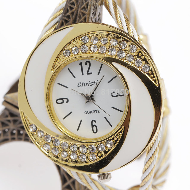 New Fashion Women Female Steel Special Rhinestone Clock Bracelet Watches Classic