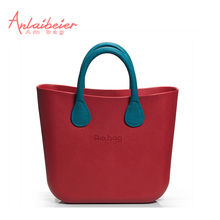 ANLAIBEIER Big Mini EVA bag Obag style Ambag body with Blue leather Handles waterproof Insert Lining O bag Design