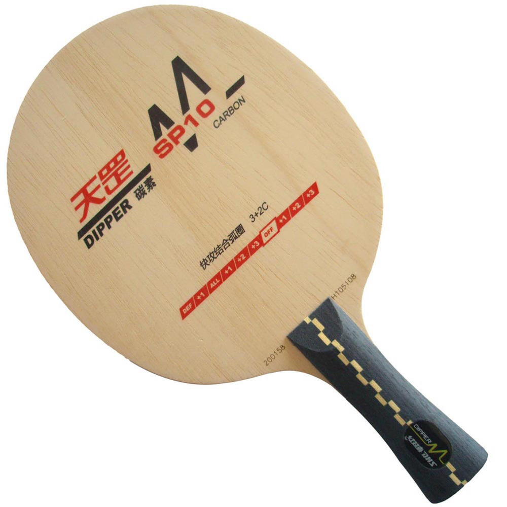 ФОТО DHS Dipper SP10 (SP 10, SP10, DM.SP10) Carbon (Attack+Loop) OFF Table Tennis Blade for PingPong Racket