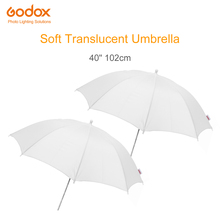 """2 stks Godox 40 """"102 cm Soft White Diffuser Studio Fotografie Doorschijnende Paraplu voor Studio Flash Strobe Verlichting"""