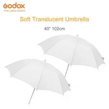 """2 sztuk Godox 40 """"102 cm miękki biały dyfuzor Studio fotografia półprzezroczysty parasol dla Studio Flash Strobe oświetlenie"""